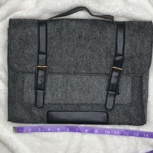 Bags - Gray and Black Buckle Styled Sleeve Pouch Bag